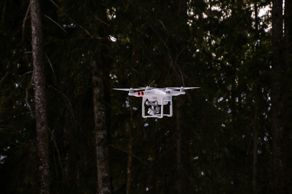 phantom 3 standard vliegt in bos