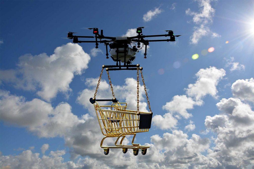 Drone transport via de lucht