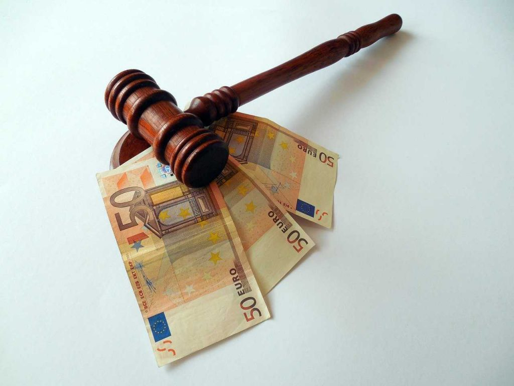 geldboete overtreding van de wet