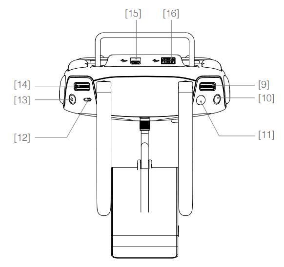 Phantom 4 controller uitleg bovenkant drone