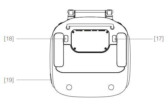 Phantom 4 controller uitleg achterkant drone