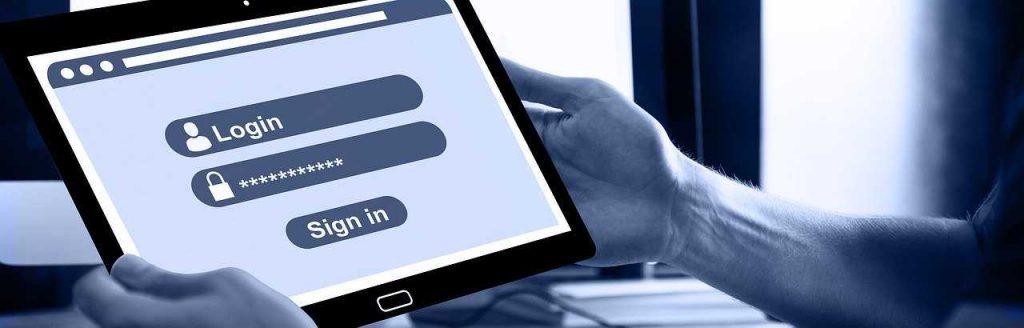 online registreren op een tablet