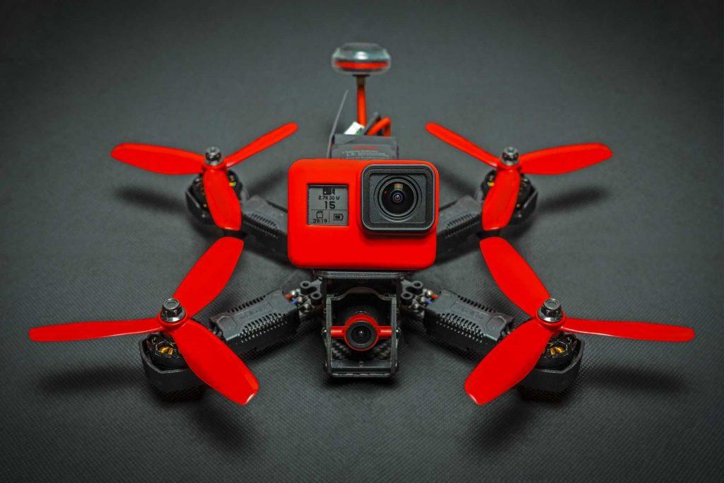 rode FPV drone met camera