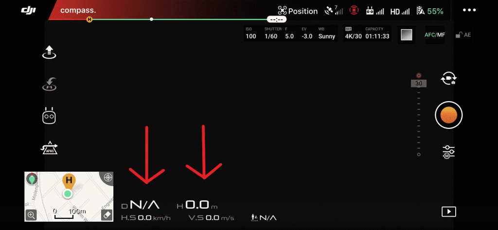 DJI GO 4 app live videoverbinding afstanden hoogte