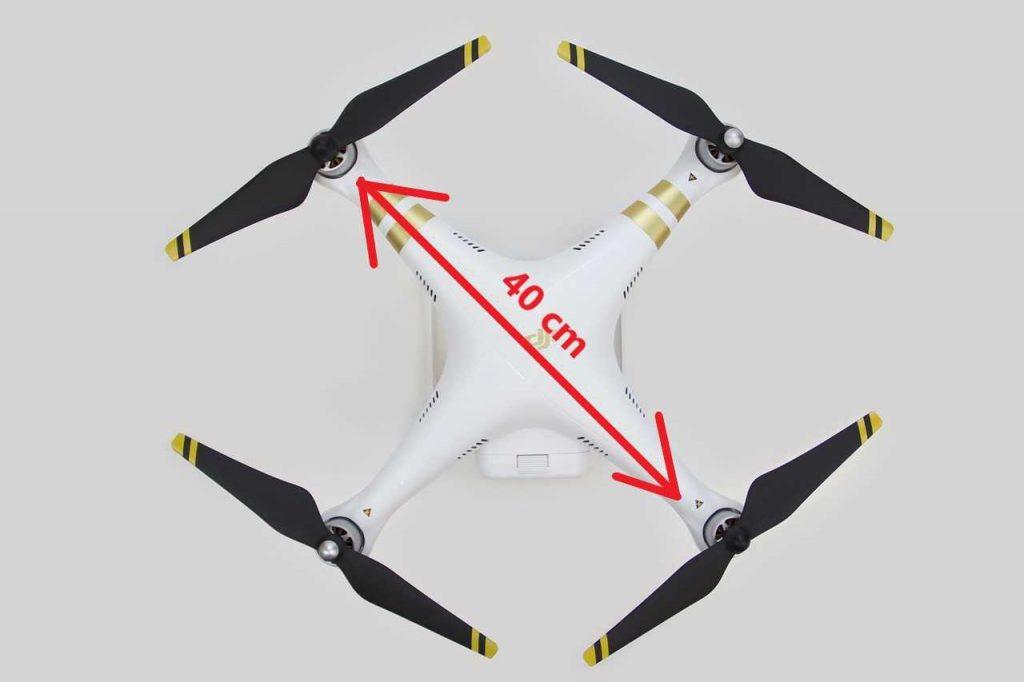 Hoe groot is een drone?
