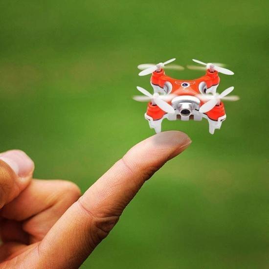 Speelgoeddrone oranje klein voor binnen