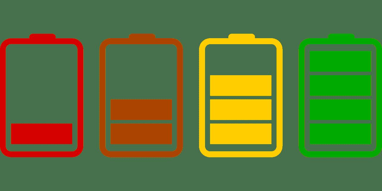 drone batterijstatus ontladen icoon