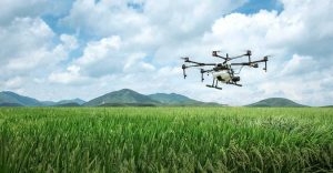 drone landschap sproeien landbouw industrie