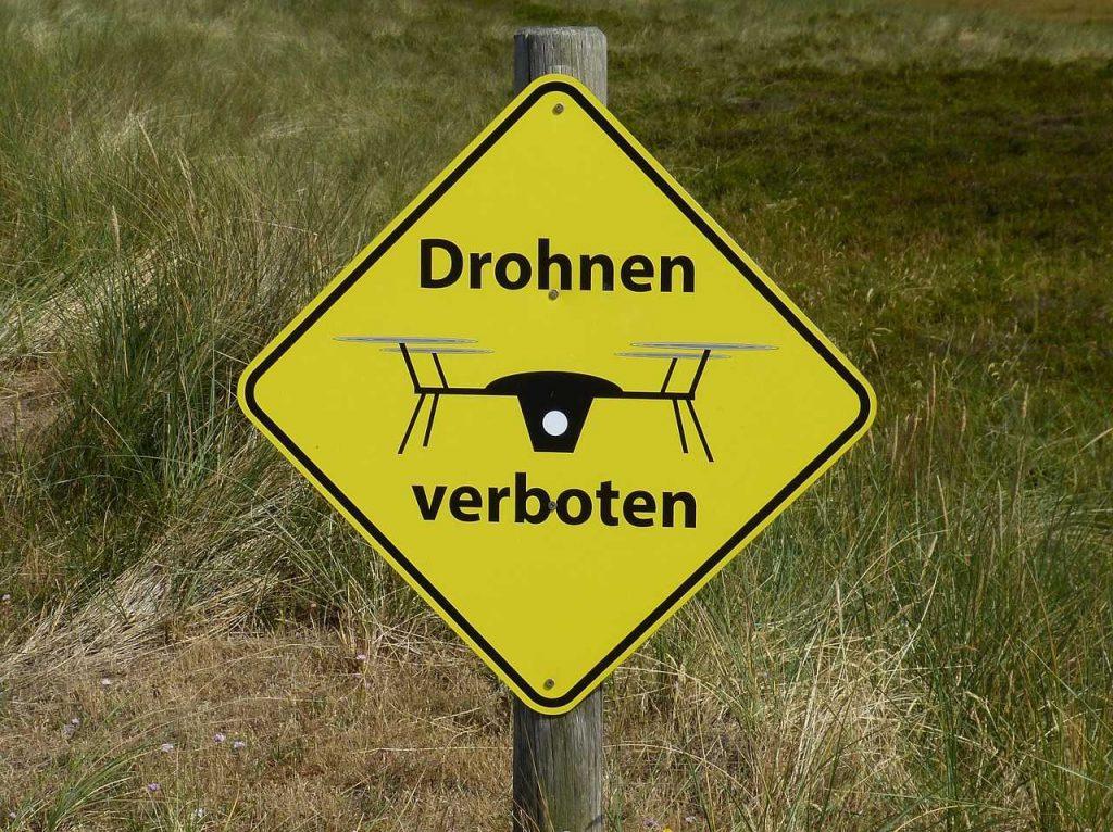 drone verbod niet vliegen bord