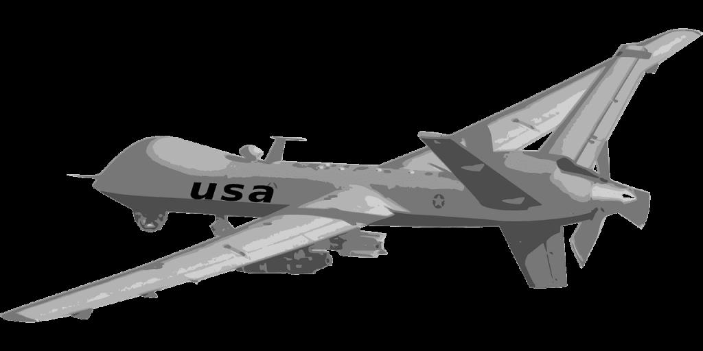 militaire drone getekend animatie grijs
