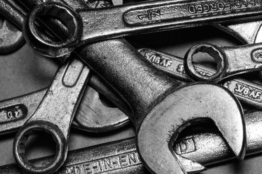 onderhoud sleutelen metaal gereedschap
