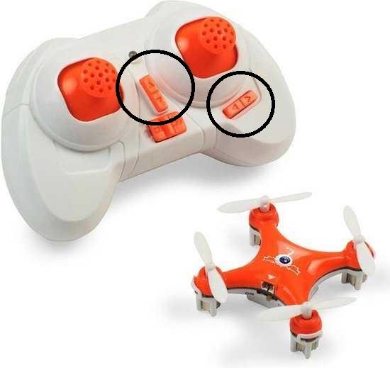 oranje speelgoeddrone met controller voor kinderen trimmen