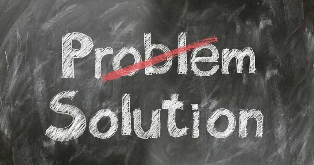 probleem oplossing krijtbord