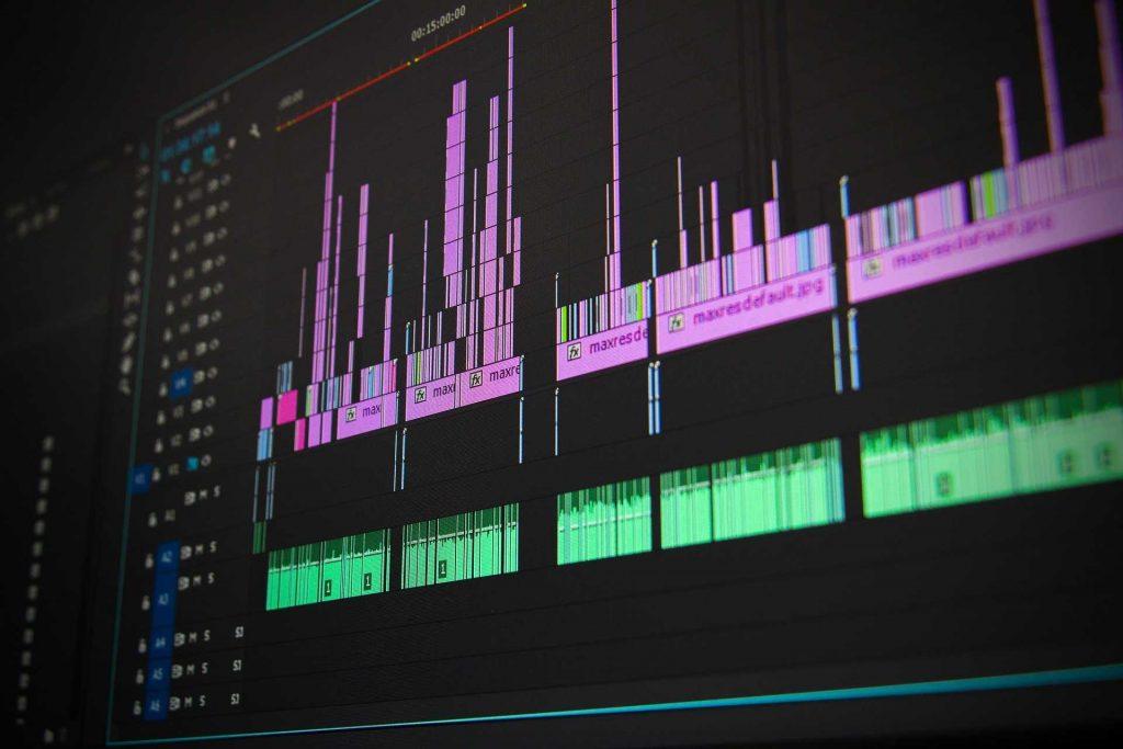 Edit programma op een beeldscherm