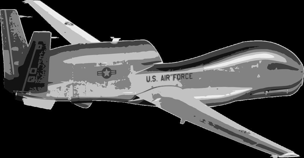 Global Hawk drone schets tekening animatie
