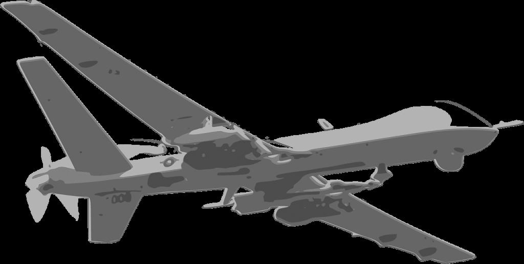 Predator drone schets tekening animatie