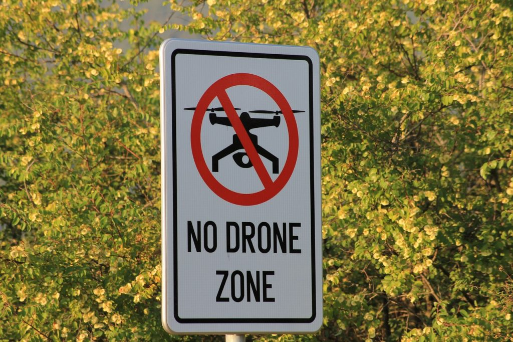 drone no-fly zone buitenland