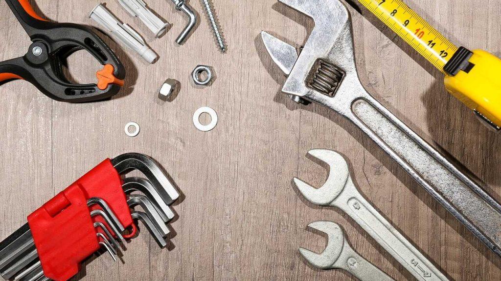 gereedschap spullen materiaal