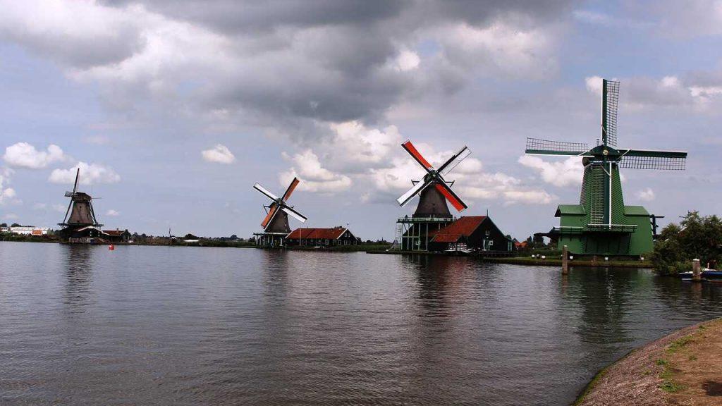 molen amsterdam water noord-holland