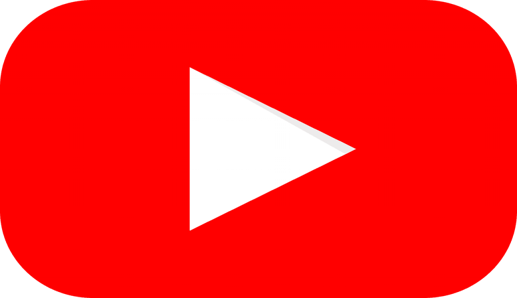 youTube logo rood wit