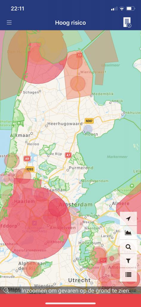 Apps die laten zien waar je mag vliegen met een drone