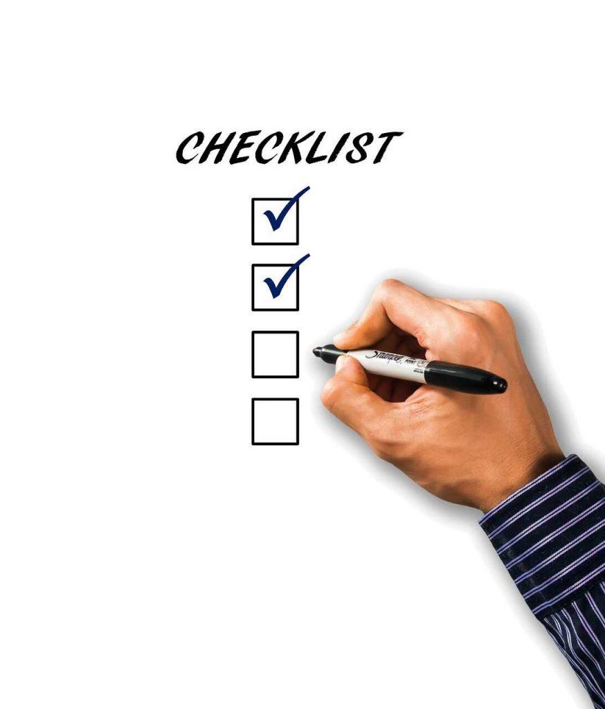 checklist papier schrijven lijstje