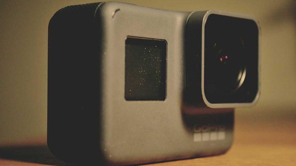 GoPro action camera tafel grijs
