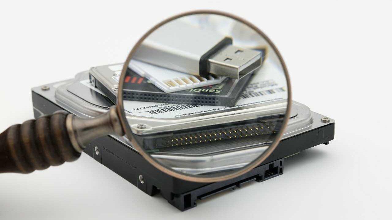 SD-kaart vergrootglas niet vinden
