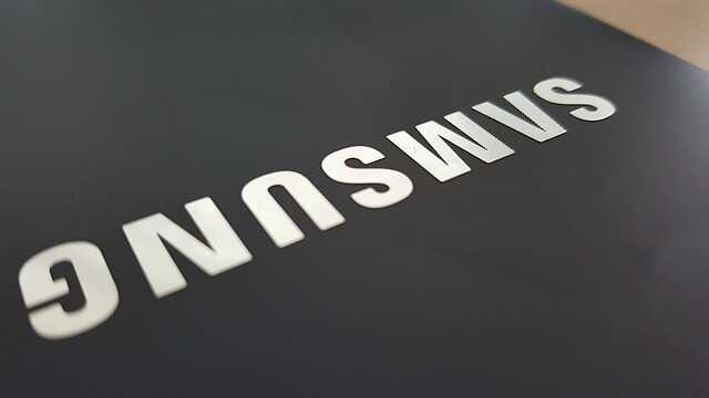 Samsung logo zwart en zilver