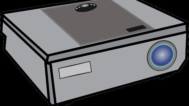 beamer tekening animatie grijs projector