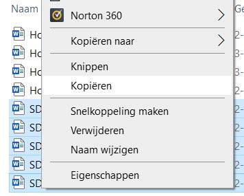 bestanden van SD-kaart overzetten