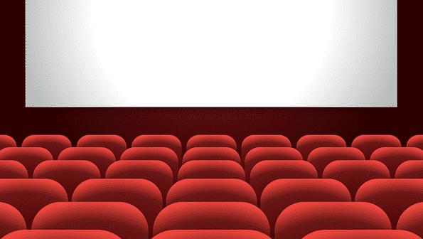 bioscoop animatie beamer scherm