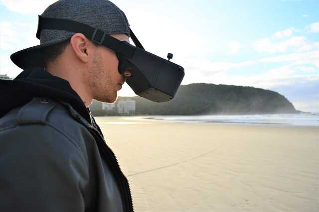 drone racen fpv goggles voor binnen