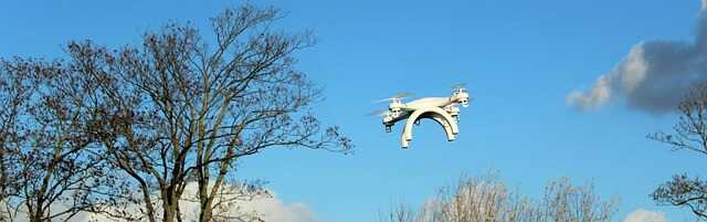drone zonder camera vliegen in bos