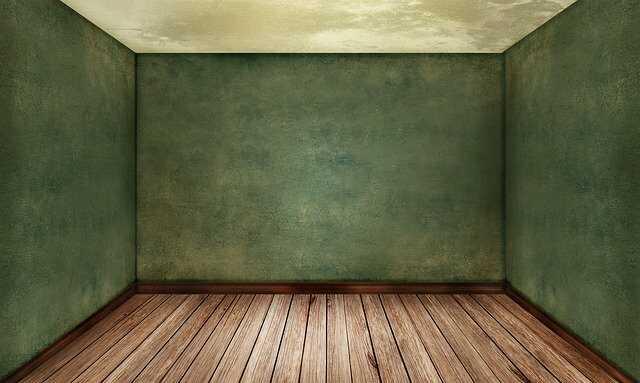 gekleurde groene muur