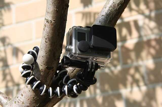 gopro bevestiging aan boom onderwater gebruiken