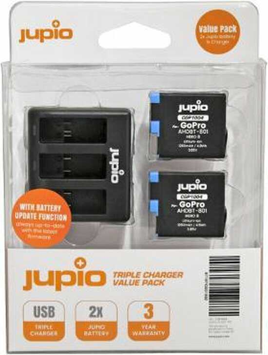 gopro hero 8 batterijen triple charger optimized