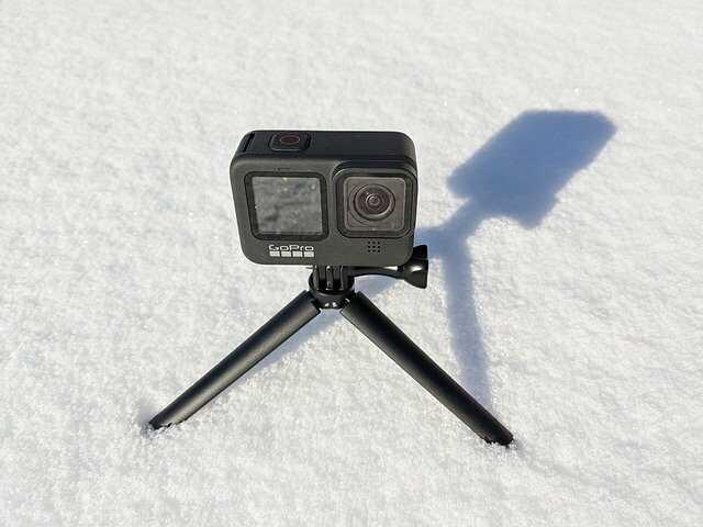 gopro in sneeuw statief uitzetten