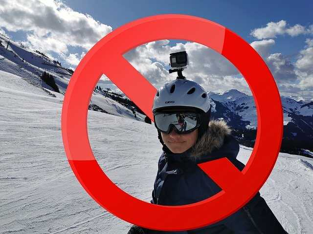 gopro op helm gevaarlijk verboden