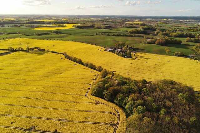 landschap weer drone foto zonnig