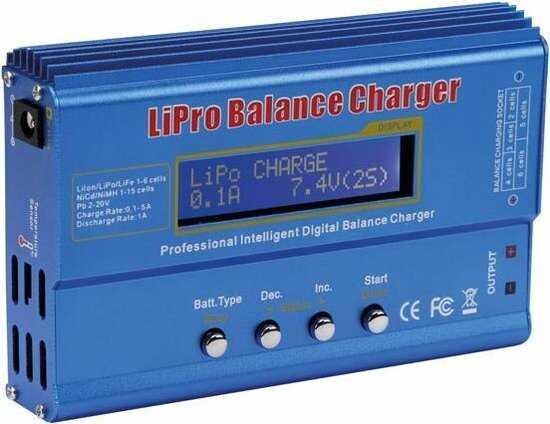 lipo batterij ontlader balancehouder oplader