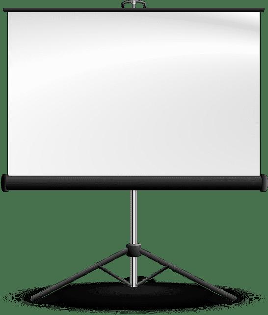 projector scherm animatie transparante achtergrond