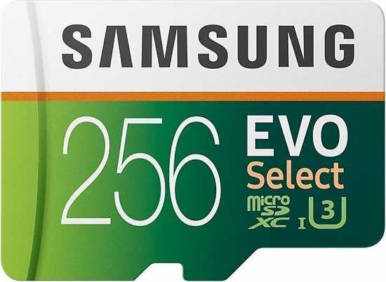 samsung evo select 256gb optimized