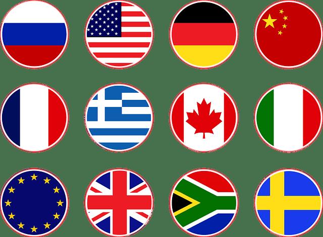 vlaggen landen talen overzicht