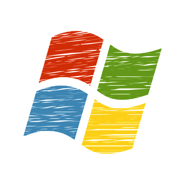 windows logo tekening