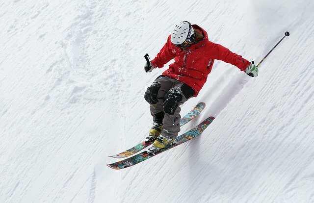 wintersport skiën daling snelheid met gopro