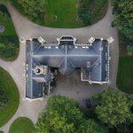 luchtfoto van kasteel schaffelaar