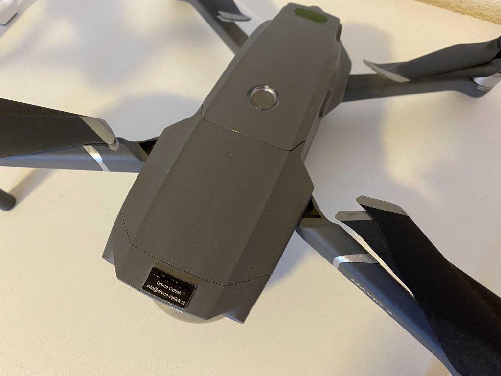 drone registreren brandplaatje op drone